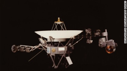A NASA image of one of the Voyager space probes. Voyager 1 and its identical sister craft Voyager 2 were launched in 1977 to study the outer Solar System and eventually interstellar space.