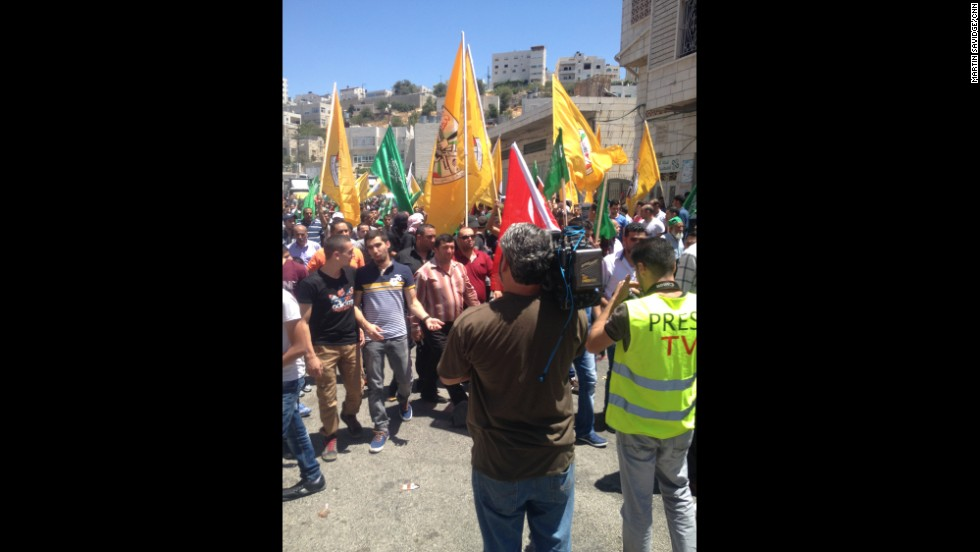 "HEBRON, WEST BANK: ""Thousands of Palestinians protest in Hebron as violence in Gaza renews."" - CNN's Martin Savidge, August 1. Follow Martin (<a href='http://instagram.com/martinsavidge' target='_blank'>@martinsavidge</a>) and other CNNers along on Instagram at <a href='http://instagram.com/cnn' target='_blank'>instagram.com/cnn</a>."