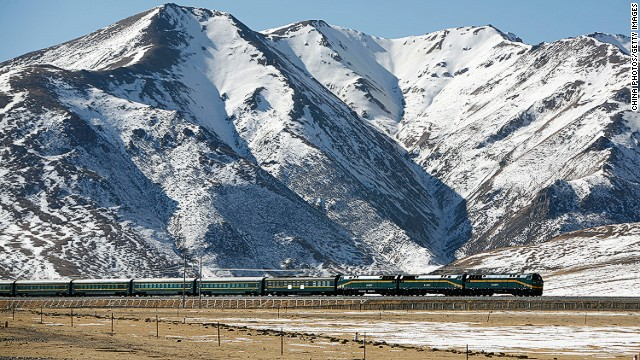 The new line is an extension of the Qinghai-Tibet line known as the highest railway in the world.