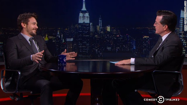 No one, not even Franco, can make Colbert break character