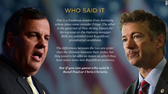 Who said it — Christie or Paul?