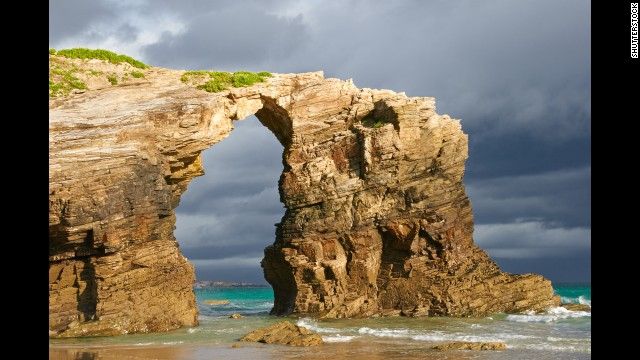Erosion really is a wonder. On Spain's Galician coastline near Ribadeo, As Catedrais features naturally carved arches that resemble a cathedral.