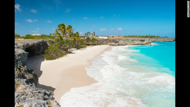 One of Barbados' most beautiful beaches, Bottom Bay is surrounded by coral cliffs. The surf is wild here, so swimming isn't advised, but picnicking in the shade of the palms is absolutely recommended.