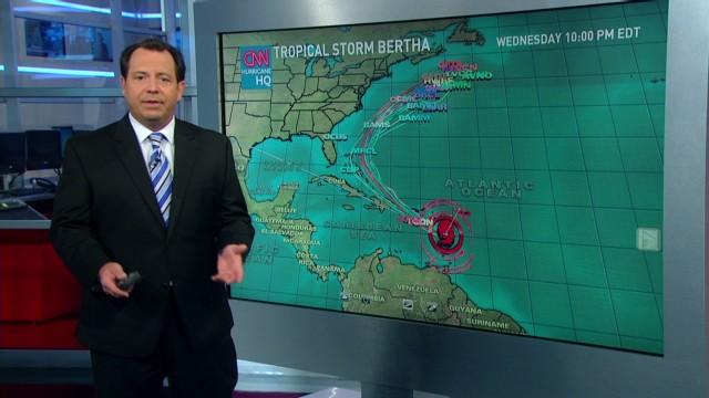 CNN Update: Tropical Storm Bertha Forms In The Atlantic
