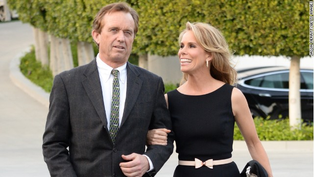 Cheryl Hines and Robert Kennedy Jr. attend an event in Los Angeles in March.
