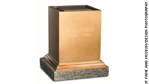 The urn containing Alan Freed\'s ashes.