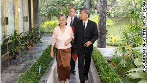 Keo Nan, Chhang\'s 86-year-old mother, lost nearly 60 members of her family during the Khmer Rouge regime.