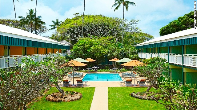 Kauai Shores is located on Kauai's Coconut Coast, on the eastern shore of the Hawaiian island. Its 200 retro-modern rooms are basic but were renovated under a re-branding and name change in June.
