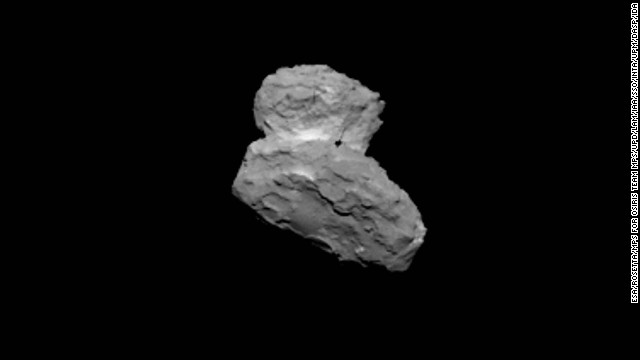 This image of the comet was taken on Friday, August 1. In November, the Rosetta spacecraft will deploy a robotic lander to the comet's surface -- something that also has never been done before.