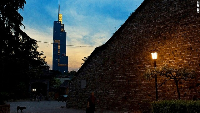 Built between 1366 and 1386, the Ming City Wall is the best preserved city wall in China. The somewhat newer 89-story Zifeng Tower (left) is the tallest structure in Nanjing.