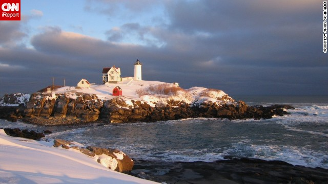 "Nubble Light in York, Maine, is a central part of the community, as <a href='http://ireport.cnn.com/docs/DOC-1157810'>Chris Schramm</a> describes it: ""I've been all over the island and through the house and light. I've flown over it. I've been around it in an aluminum boat."""