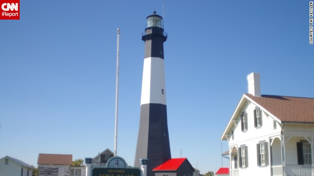 "<a href='http://ireport.cnn.com/docs/DOC-1156912'>Pat Kessler</a> captured the well-known lighthouse in Tybee Island, Georgia, in 2007. ""I hadn't been that close to a lighthouse before, and its long stately shape"" made it memorable in his mind, he said."