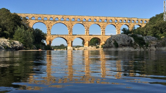 "CNN's <a href='http://ireport.cnn.com/docs/DOC-1158662'>Jethro Mullen</a> spent time on the Gardon River in southern France while visiting friends who live nearby. His favorite feature is the Pont du Gard aqueduct, built by Romans in the first century. He called it ""a majestic work of engineering and a reminder of the long history of human activity around the river."""