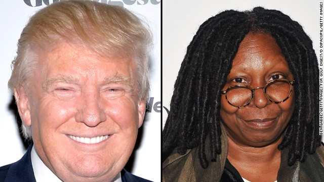 "On August 1, Trump protested <a href='https://twitter.com/realDonaldTrump/status/495379061972410369' target='_blank'>via Twitter</a> about two American Ebola patients returning to the United States. Whoopi Goldberg responded on her show that while Trump is her friend,<a href='http://www.thewrap.com/whoopi-goldberg-lashes-out-at-donald-trump-for-stupid-ebola-virus-tweets-on-the-view/' target='_blank'> ""that was a stupid comment. Do your homework Donald. Just do your homework.""</a>"