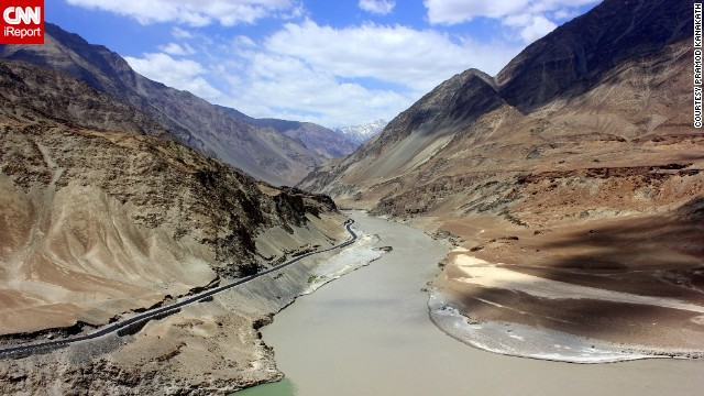 <a href='http://ireport.cnn.com/docs/DOC-1154049'>The Indus and Zanskar rivers</a> come together in Leh, India, a mountainous region known for its breathtaking views of the Himalayan mountain range.