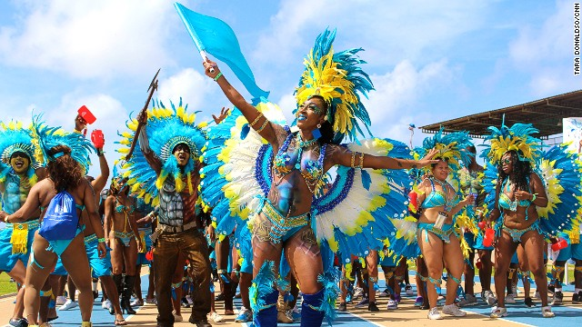 """Kadooment Day is one of the happiest days of the year,"" says Barbadian reveler Tresha Nelson. ""It's a spectacle of color and costumes, and everybody enjoys the vibe. It's all smiles."""
