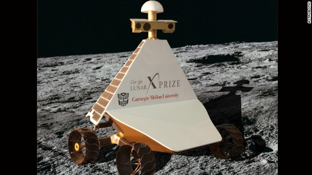 Astrobotic hopes to send its robot, Red Rover, pictured, to the moon on a mission to explore one of more than 200 pits discovered under the lunar surface. The team believes that a large underground cave network might offer a more cost-effective location for human settlement in the future.