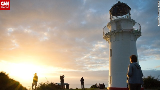 The East Cape Lighthouse is seen at sunrise in this 2010 photo from <a href='http://ireport.cnn.com/docs/DOC-532301'>Brendon Doran</a>. This beautiful lighthouse can be found in North Island, New Zealand.