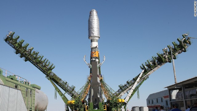 Pictured, the launch of the Earth Observation Satellite Soyuz 2, which is being used by SA Catapult.
