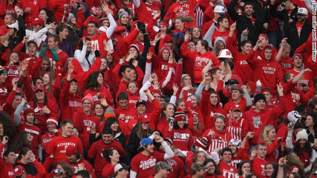 The University of Wisconsin-Madison Badgers stay busy partying, according to the list, which put them at No. 8.