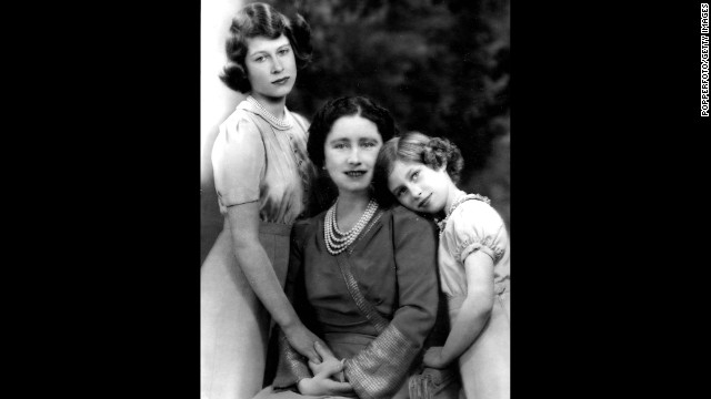 From left, Princess Elizabeth, the Queen Mother and Princess Margaret in 1940.