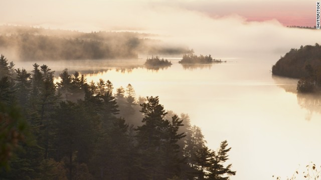 Boundary Waters Canoe Wilderness in Minnesota contains 1,200 lakes and hundreds of miles of streams.