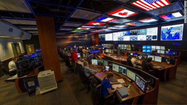 Inside the Payload Operations Integration Center at NASA's Marshall Space Flight Center in Huntsville, Alabama.