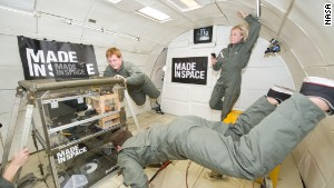First 3-D printer in space