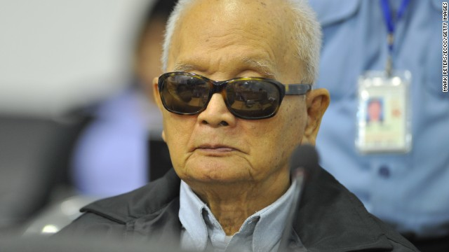 Known as Brother Number Two, Nuon Chea was considered Khmer Rouge leader Pol Pot's right hand man. This is an image from court in 2011.<!-- --> </br>