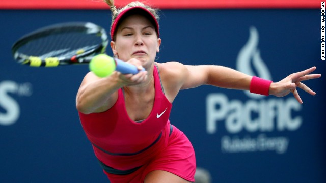 Eugenie Bouchard was unable to defeat Shelby Rogers in front of a home crowd in Montreal.