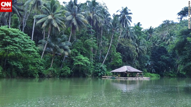 "Cruising along the <a href='http://ireport.cnn.com/docs/DOC-1159077'>Loboc River</a> on Bohol Island in the Philippines, Sylvie Nguyen said she loved the local charm, like this ""floating stage of dancing and singing ladies."""