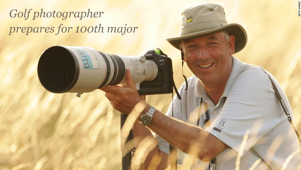 He's covered seven football World Cups, six Olympic Games and 15 Ryder Cups over the course of an all-encompassing 31-year career.<!-- --> </br><!-- --> </br>This week, Getty Images photographer David Cannon will reach another impressive milestone as he racks up coverage of his 100th men's major golf tournament at the U.S. PGA Championship.<!-- --> </br><!-- --> </br>It's been an incredible journey <a href='http://edition.cnn.com/video/data/2.0/video/sports/2012/02/06/living-golf-photography-david-cannon.cnn.html' target='_blank'>that has captured some of golf's most iconic moments.</a><!-- --> </br><!-- --> </br>From Jack Nicklaus to Tom Watson and Tiger Woods to Rory McIlroy, Cannon has snapped them all as they strived for victory in the sport's most illustrious tournaments.<!-- --> </br><!-- --> </br>We asked the English photographer to select and describe his favorite shots from his previous 99 golf majors.