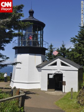 "<a href='http://ireport.cnn.com/docs/DOC-1159168'>Bob Myers l</a>ives in California, but visits Oregon's inactive Cape Meares Light once a year. ""This was the very first lighthouse I had a chance to see up close,"" he said. ""A bit like my first love?"""