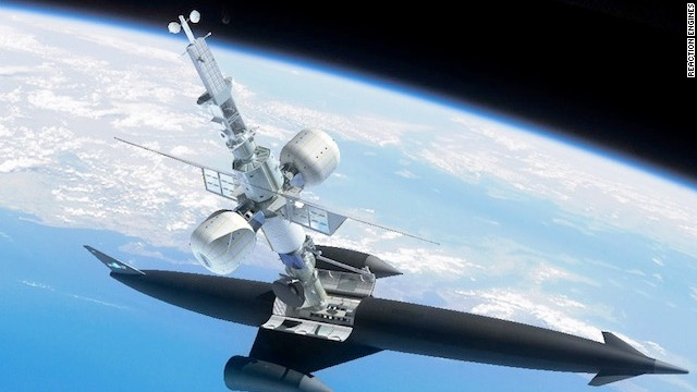 Skylon could be used to deliver parts to a satellite.