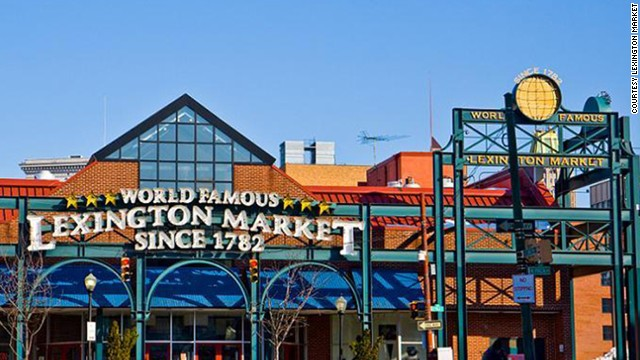 Baltimore's <a href='http://www.lexingtonmarket.com/' target='_blank'>Lexington Market</a> claims to be the world's largest, continuously running market since 1782. Back then it was a tract of land where farmers spread out butter, eggs, turkey and produce, and bartered with merchants for grain, hay and livestock. The first shed went up in 1803, and by 1925 three block-long sheds housed more than 1,000 stalls. Today it has more than 100 stalls offering prepared foods -- including Faidley Seafood's famous crab cakes -- and fresh fare.