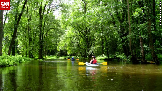 "<a href='http://ireport.cnn.com/docs/DOC-1150362'>Jim Taliaferro </a>has paddled all but a quarter-mile of Ohio's 85-mile Cuyahoga River. It's a must-see destination for visitors, he said. ""If you're ever in the area, don't miss the chance to see a really beautiful river."""