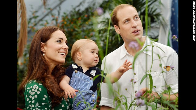 A photograph taken in London on Wednesday July 2, to mark Prince George's first birthday, shows the family during a visit to the Sensational Butterflies exhibition at the Natural History Museum in London. Buckingham Palace announced on Monday, September 8, that a<a href='http://www.cnn.com/2014/09/08/world/europe/uk-royal-pregnancy/index.html?hpt=hp_t1'> second royal baby is on the way for the couple.</a> The couple's second child will become fourth in line to the British throne.
