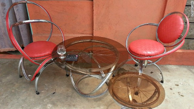 Based on the outskirts of Nairobi, Ojey's Designs is crafting eye-catching chairs, tables and stools.