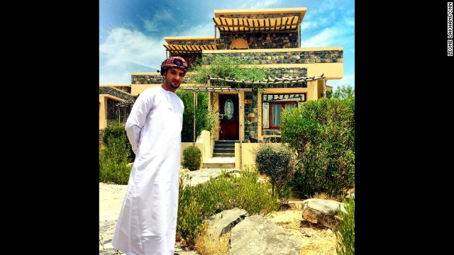 "OMAN: ""This is Nasser Al Fahdi. He works at a hotel on Oman's Jabal Akhdar (Green Mountain). For decades, the mountain was a military zone, off-limits to outsiders. Now the government is opening up tourism here, and the local community is benefitting. This is Sahab Hotel, which employs Omanis from the area and uses rocks from the mountain as its building materials."" - CNN's Leone Lakhani. Follow Leone (<a href='http://instagram.com/leonecnn' target='_blank'>@leonecnn</a>) and other CNNers along on Instagram at <a href='http://instagram.com/cnn' target='_blank'>instagram.com/cnn</a>."