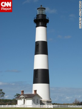 <a href='http://ireport.cnn.com/docs/DOC-1159187'>Justin Wolfe</a> called it a treat to be able to view the powerful lens of the Bodie Lighthouse up close in Nags Head, North Carolina.