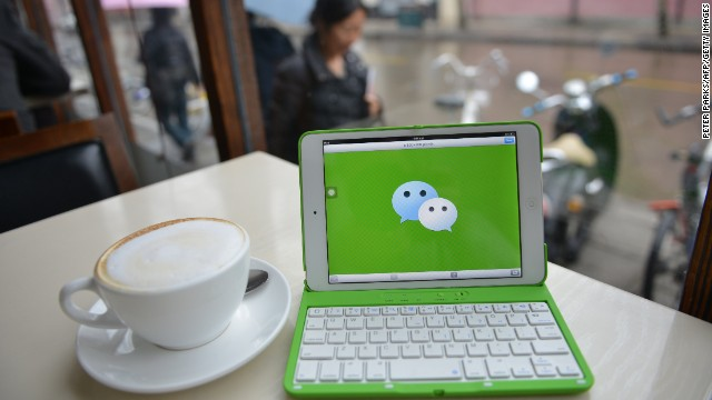 WeChat's is used for chatting, ordering taxis, sharing photos and more.