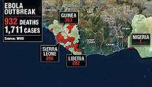 Map: Ebola outbreak