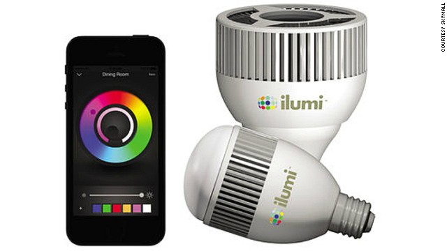 The ilumi Multicolor LED Smarbulb is the newest product offered up by SkyMall. The bulb is controlled by an app, and changes colors.