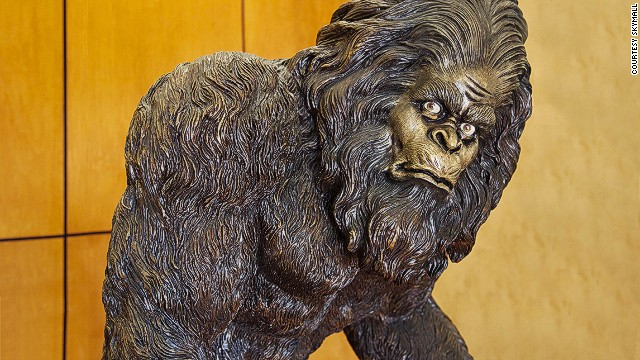 One of the most popular items in the SkyMall catalog has long been the garden yeti -- a rosin statue that comes in three sizes. The life-sized model weighs 147 poun