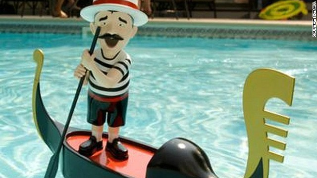 Patio and pool decor -- like this singing gondolier pool toy -- also perform well in the catalog.