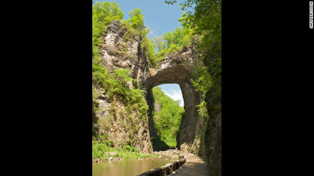 The Natural Bridge of Virginia was once owned by Thomas Jefferson.