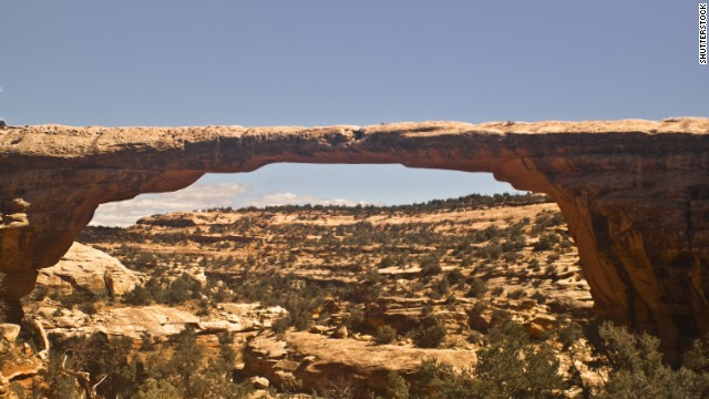 Owachomo Natural Bridge is one of three famous natural bridges at the aptly named Natural Bridges National Monument in Utah.