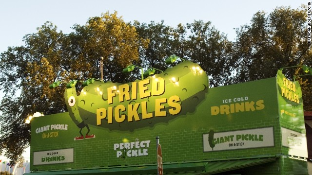 The greenest sign at the fair was a beacon for fried pickle -- or frickle -- enthusiasts everywhere.