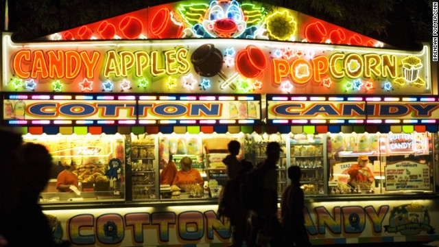 Traditional fair fare such as cotton candy and popcorn is on the menu as well.