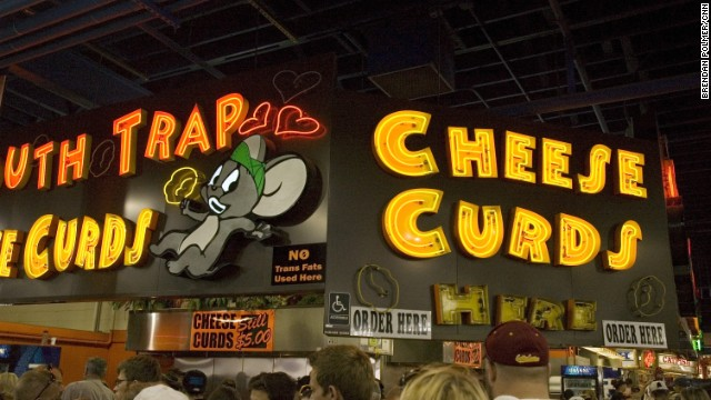 In 2011, CNN's Brendan Polmer ate his way through the Minnesota State Fair and lived to tell the tale of fried cheese curds, fried pie, fried onions (topped with cheese) and so much more.